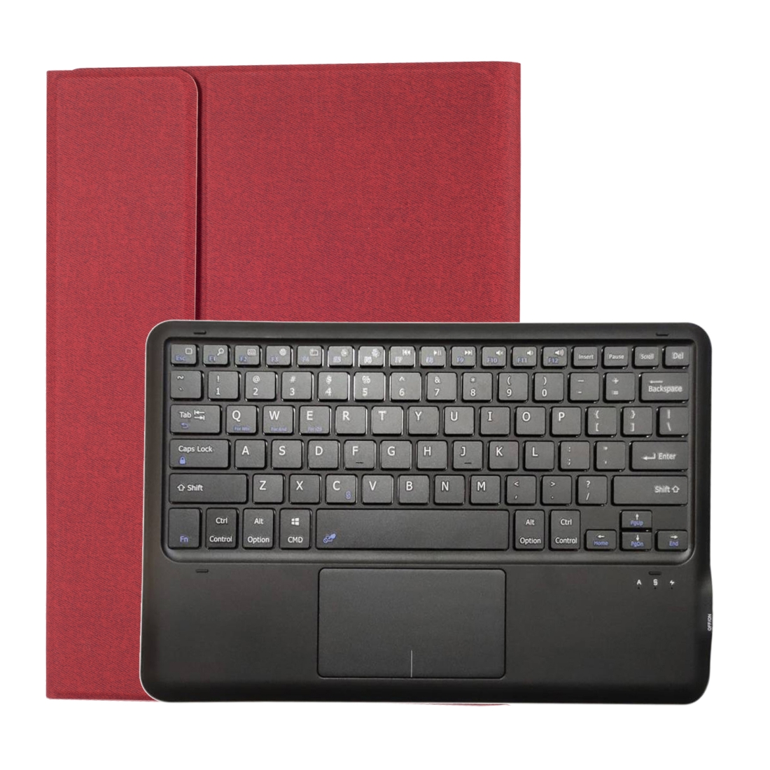 iPad Pro 12.9 Case With Keyboard (2018) (2020) With Leather Case & Backlit Keyboard (Red)
