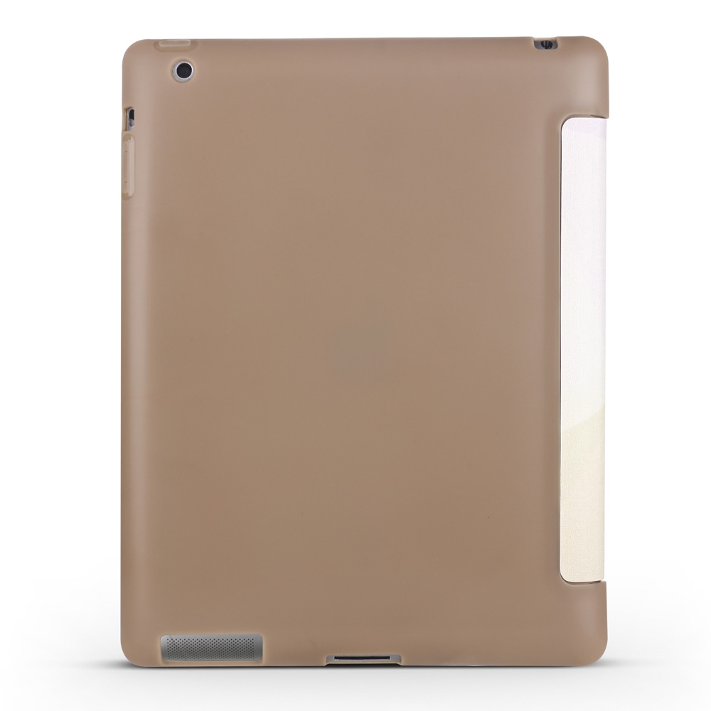 Elephant Leather iPad 4th Generation Case Fits iPad 2,3,4, with Tri-Fold Honeycomb Durable Cover