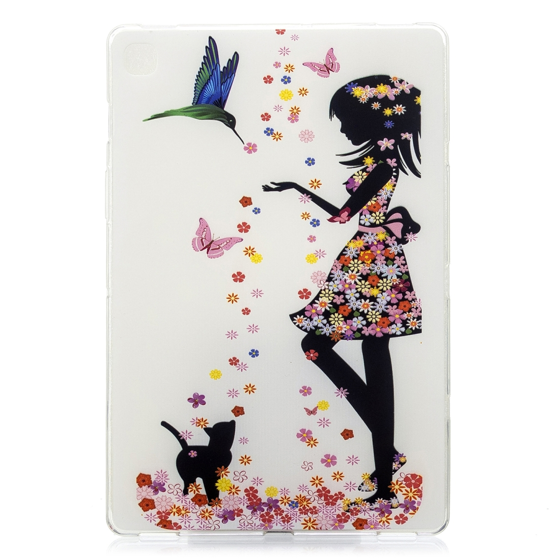 For Galaxy Tab S5e T720 Artistic Pattern Durable Case (Butterfly Girl)