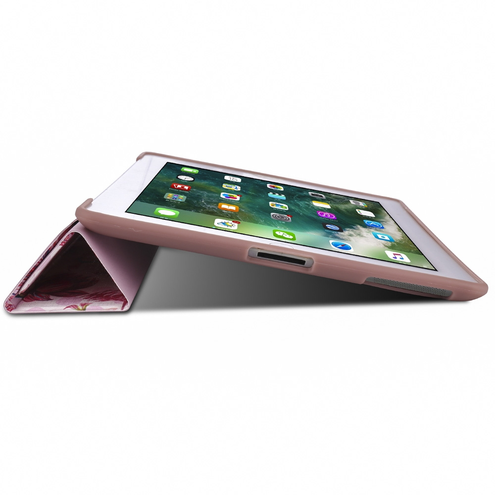 Flamingo Leather iPad 4th Generation Case Fits iPad 2,3,4, with Tri-Fold Honeycomb Durable Cover
