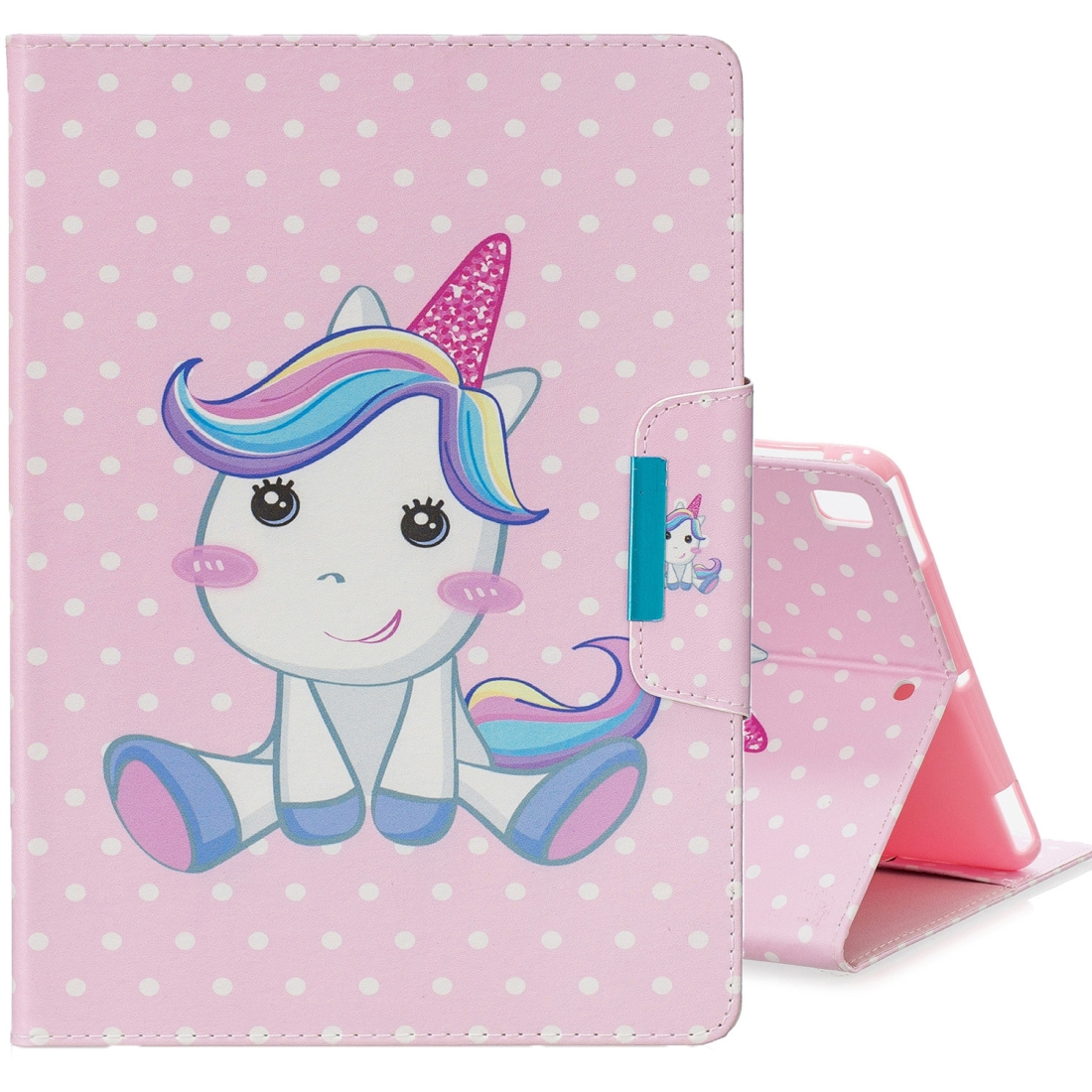 Artistic Leather iPad Air Case/ Air 2/ iPad 9.7 (2017) (2018) with Slim Profile (Unicorn)