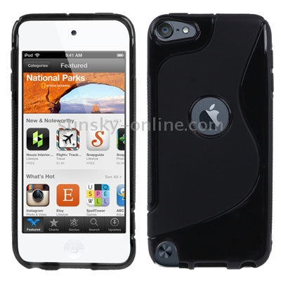 S Line Durable Case for iPod touch 5/ 6 (Black)
