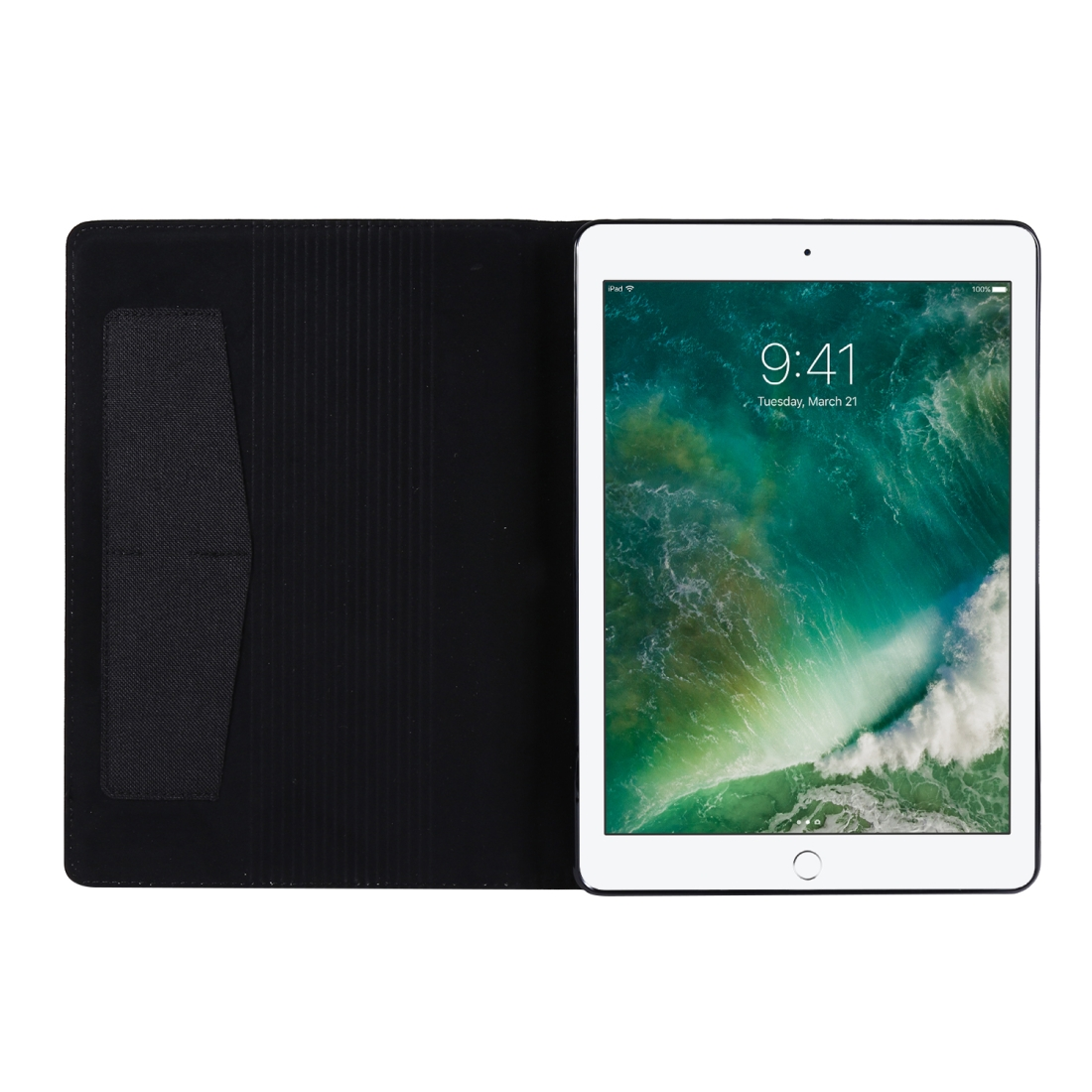 iPad 7th Generation Case (10.2 Inch) With A Durable Protective Fabric Design, Slim Profile (Black)