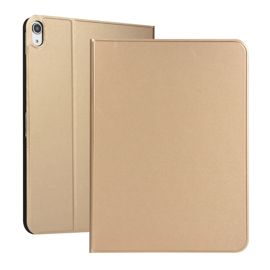 Elastic Leather iPad Pro 11 Case With Auto Sleep, Durable Soft Shell Bottom (Gold)