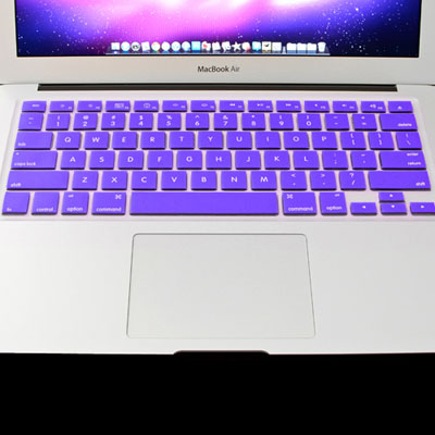 Macbook Air Keyboard Cover For MacBook Air 11.6 inch (US) / A1370 / A1465 Soft Silicone (Purple)