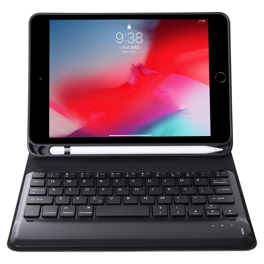 iPad Mini Case With Keyboard & Leather Case For iPad Mini 5 (Pink)