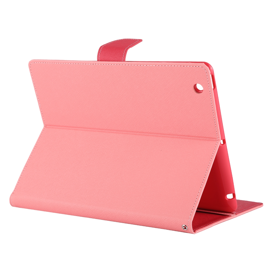 iPad 2 Case Fits iPad 2, 3, 4, Goospery Cross Textured Leather Case With Slim Profile (Pink)