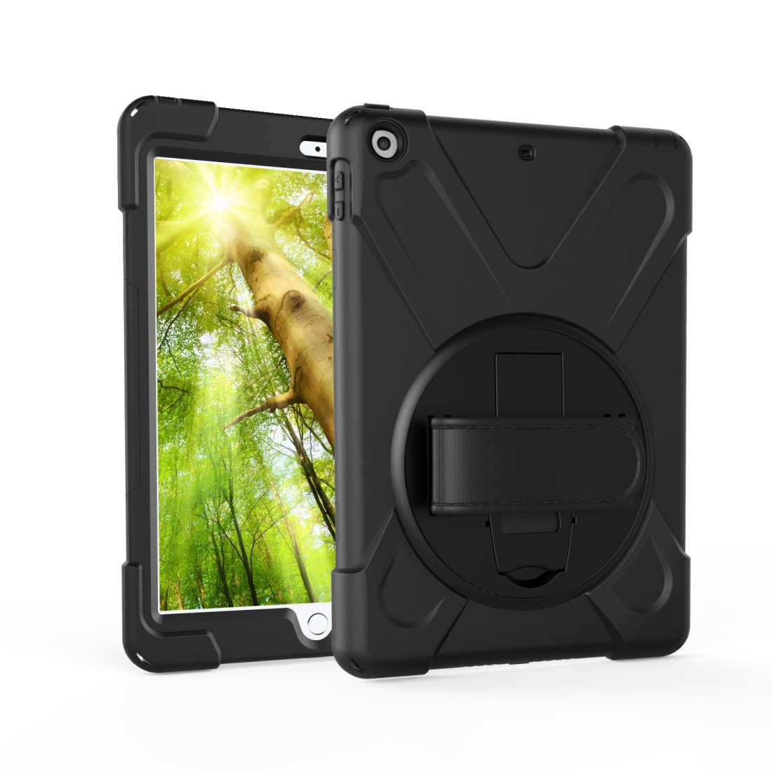 iPad 7th Generation Case (10.2 Inch) With A Protective Rotatable Design And Hand Strap (Orange)