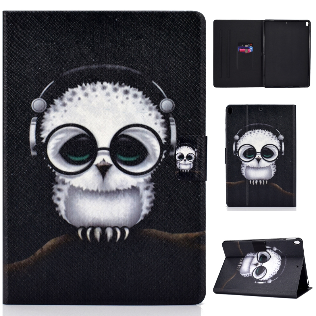 Artsy Protective iPad Air 3 Case (10.5 Inch), iPad Air (2019), Auto Sleep, Non-slip (Spectacled Cat)