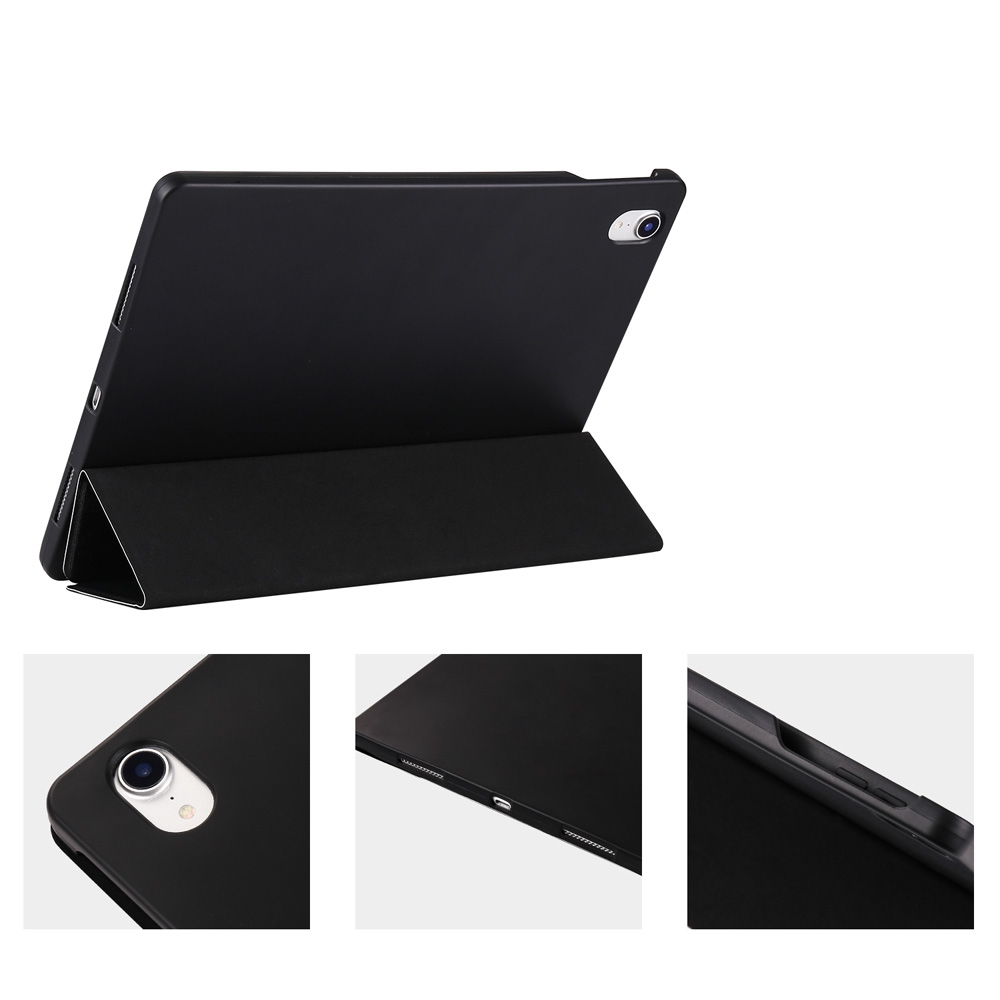 Angry Expression Leather iPad Pro 11 Case (2018), with Pen Holder