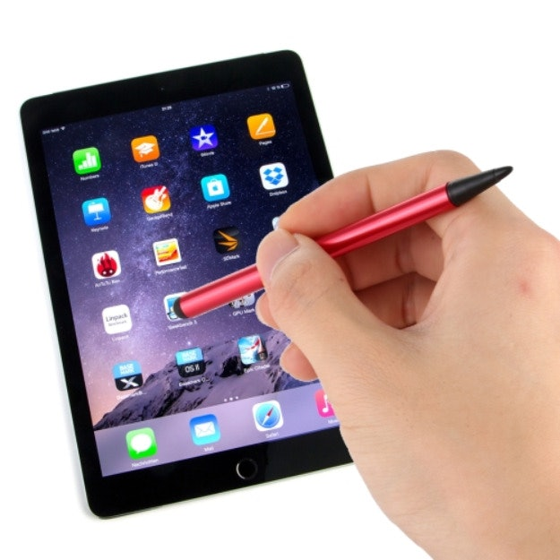 Capacitive Stylus Pen For iPad, iPhone, iPod, Galaxy, Kindle, Tablets & Phones - Dual Tip (Wine Red)