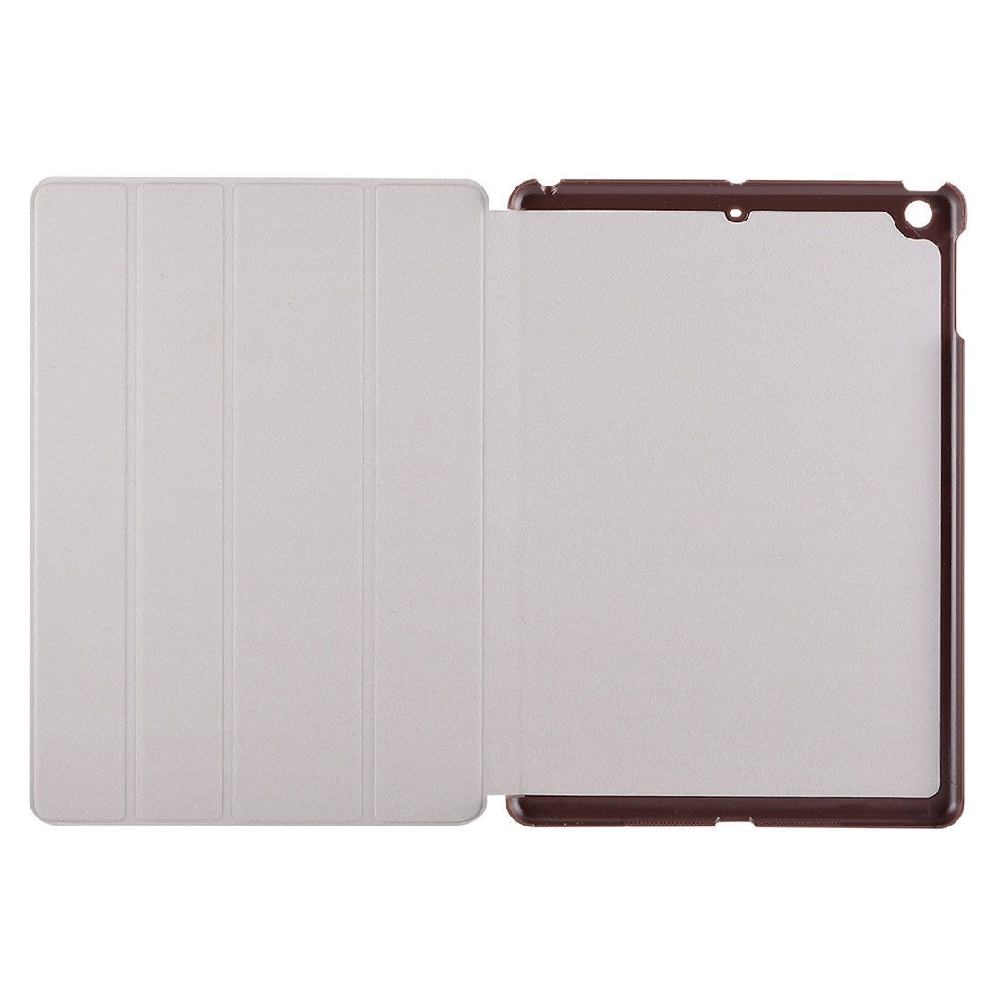 iPad Air Cover Features A Stylish Protective Genuine Leather Casing And A Quad Fold Stand (Brown)