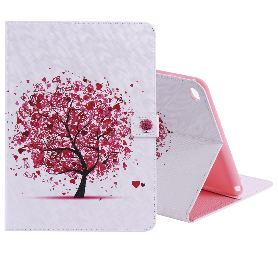 iPad 5th Generation Case Fits iPad 5 & 6, Leather With Slim Profile, Auto Sleep (Artistic Tree)