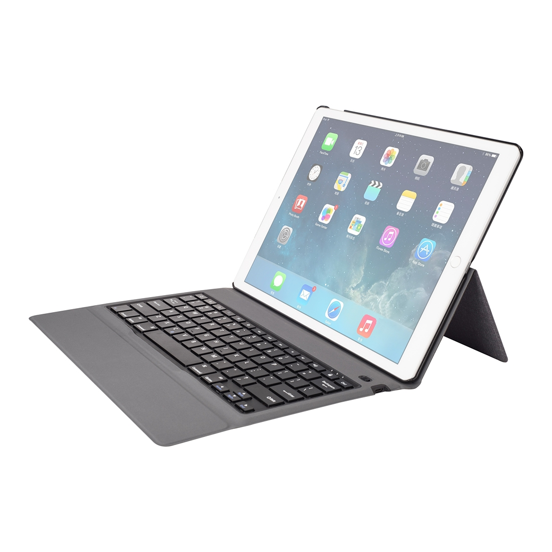 iPad Pro 12.9 Case With Keyboard (2015-17), With Leather Case, Ultra Thin Keyboard (Black)