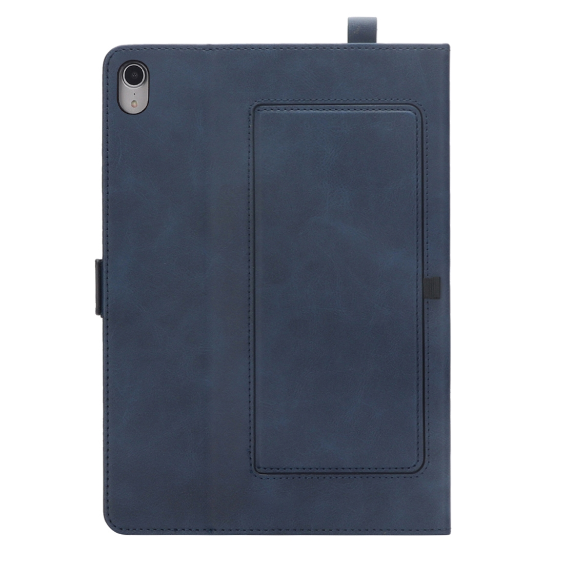 Bi-Stand Leather iPad Pro 11 Case (2018), w/Sleeves, Frame, Pen Holder (Blue)