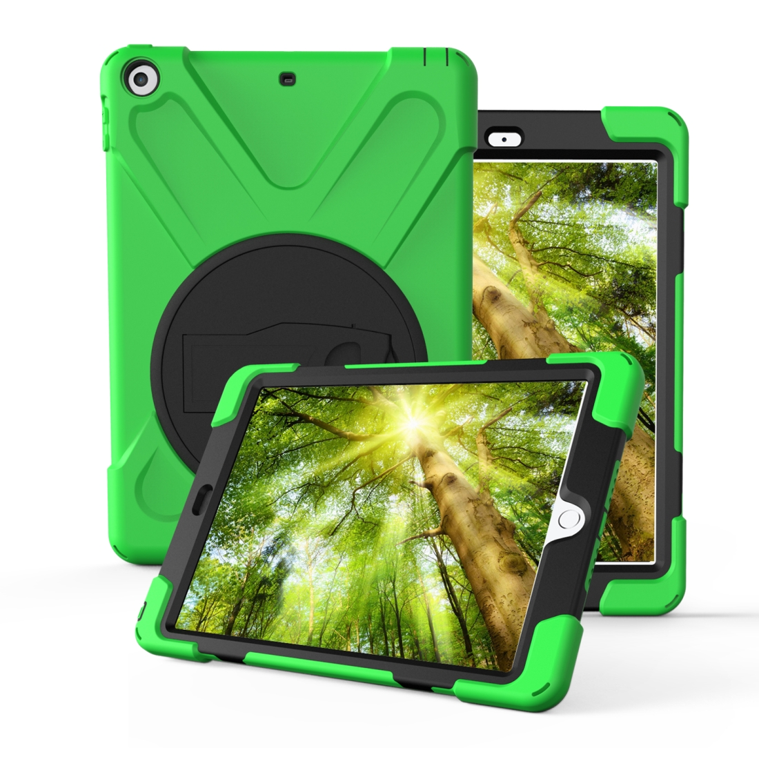 iPad 7th Generation Case (10.2 Inch) With A Protective Rotatable Design And Hand Strap (Light Green)