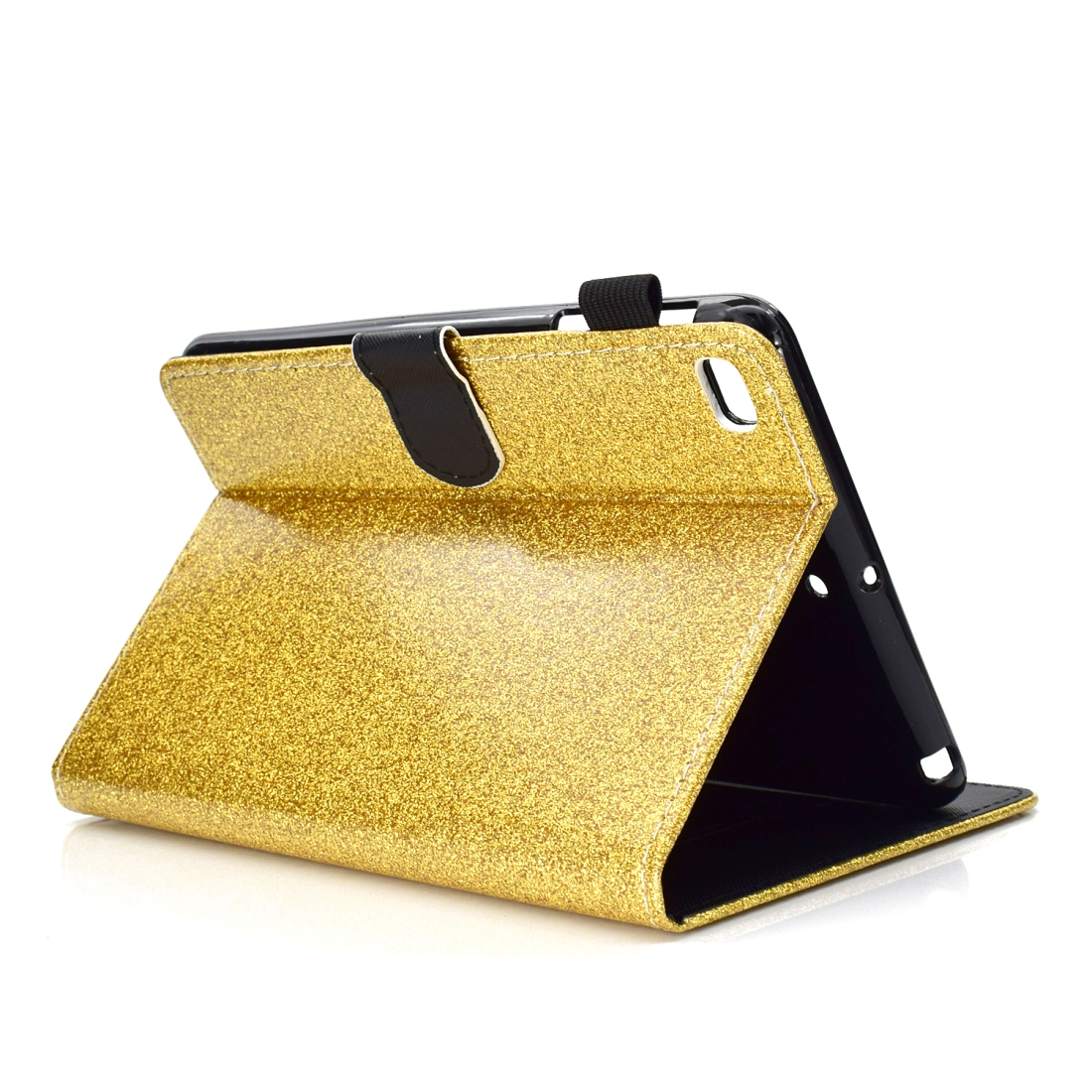 Bling Glitter Leather iPad Mini 5 Case, Also Fits iPad Mini 1,2,3,4, With Sleeve (Gold)