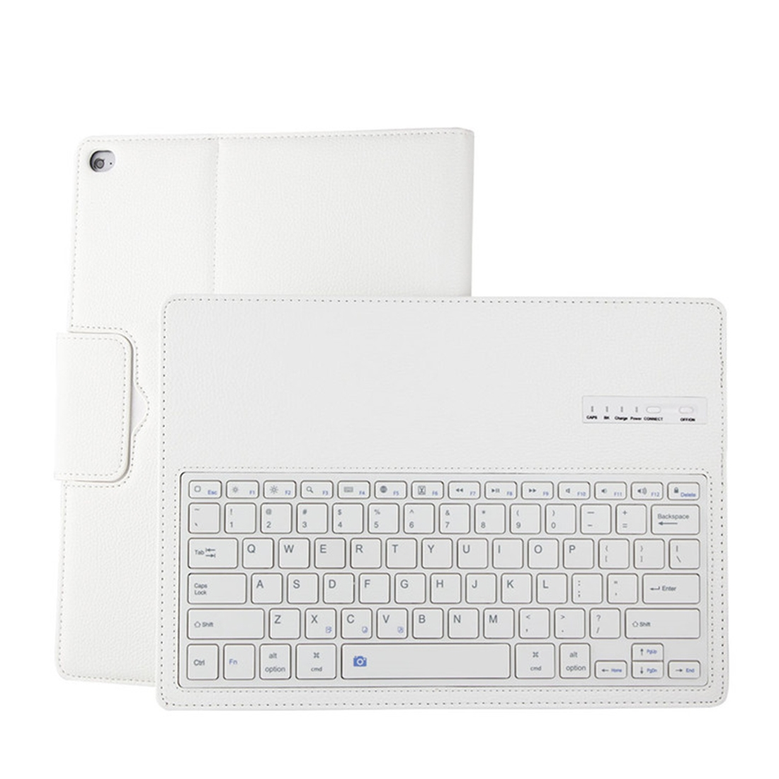 iPad Pro 12.9 Case With Keyboard (2015-17) With Leather Case & Detachable Keyboard (White)