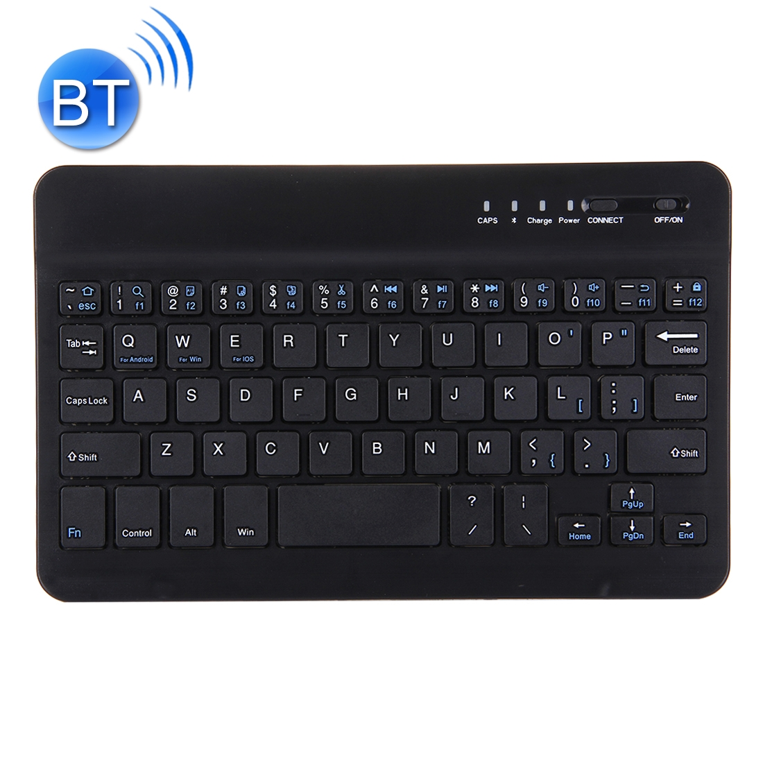 Wireless Bluetooth Keyboard For iPad, Compatible With 7 Inch Tablets (Black)