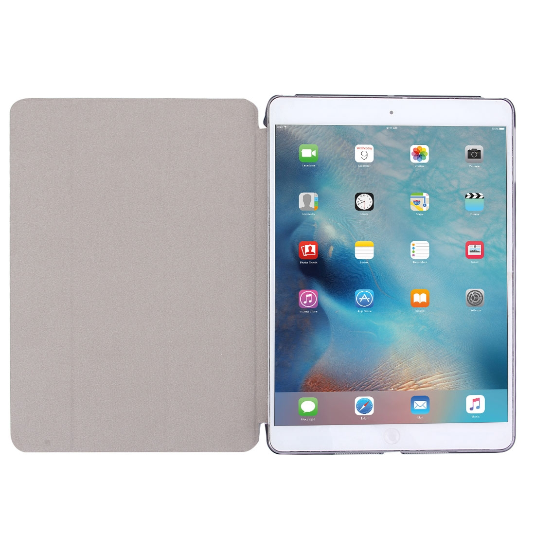 iPad Air Case Also Fits iPad 5, Features A Protective Leather Cover With Auto Sleep/Awake (Silver)