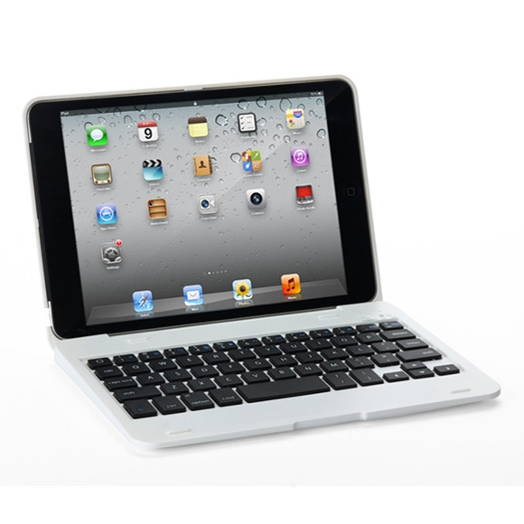 iPad Mini Case With Keyboard For iPad Mini 1,2 & 3, Protective Case With Bluetooth Keyboard (White)