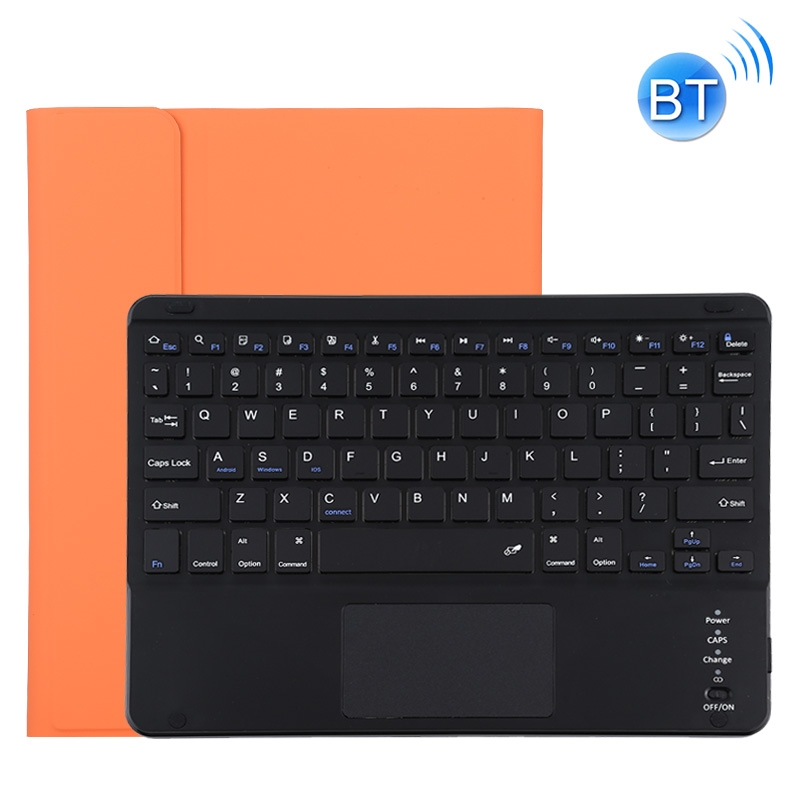 iPad Pro 11 Case With Keyboard (2020), With Leather Case & Detachable Keyboard (Orange)