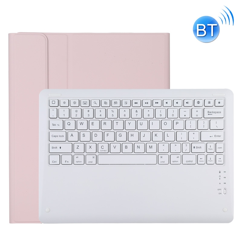 iPad Pro 12.9 Case With Keyboard (2020) Leather Case With Detachable Keyboard (Pink)
