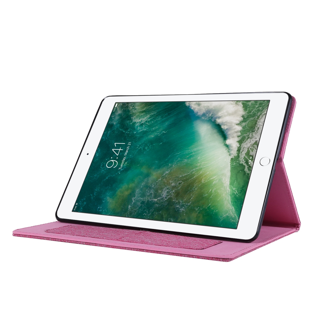 iPad 7th Generation Case (10.2 Inch) With A Durable Protective Fabric Design, Slim Profile (RoseRed)