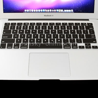 Macbook Air Keyboard Cover For MacBook Air 11.6 inch (US) / A1370 / A1465 Soft Silicone (Black)