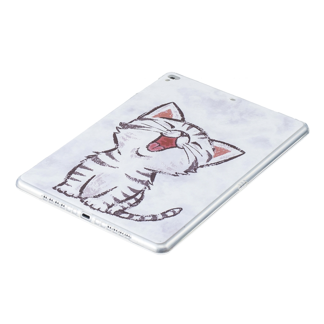 Artistic Pattern Durable Case (Red Mouth Cat)