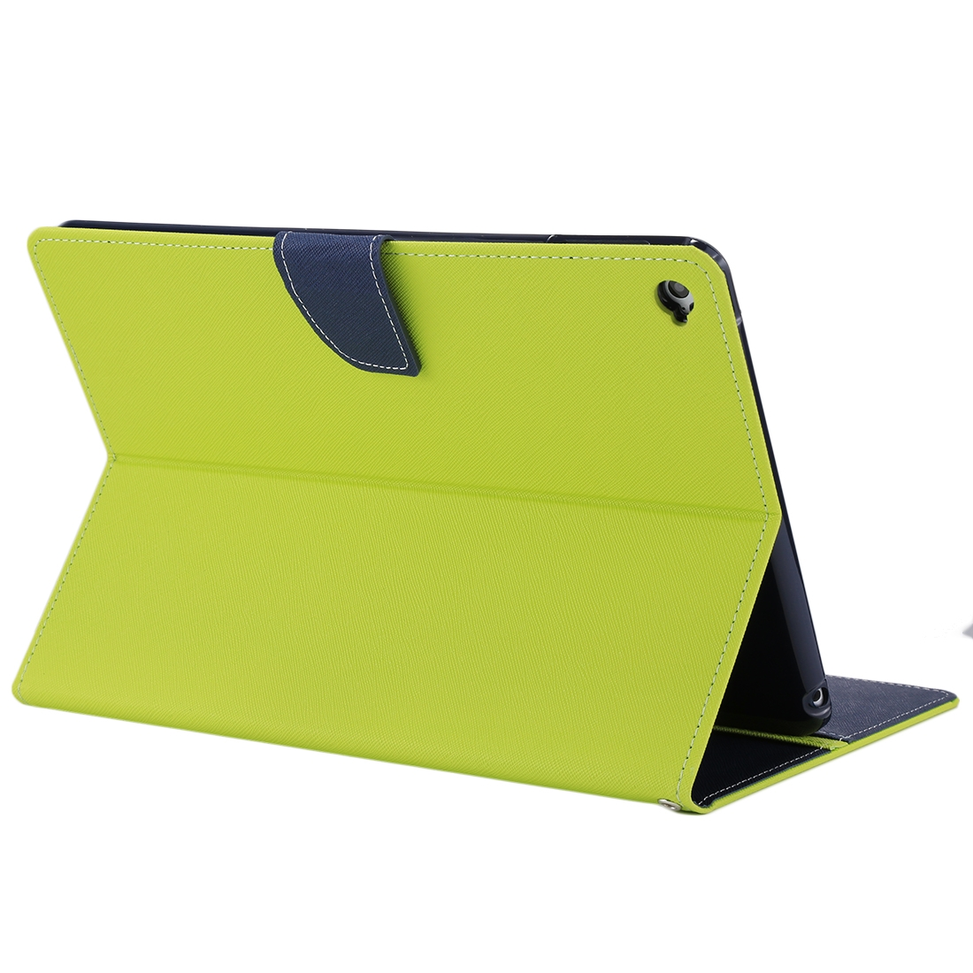 iPad Air 2 Case Cross Texture Leather Case with Holder & Slim Profile (Green)