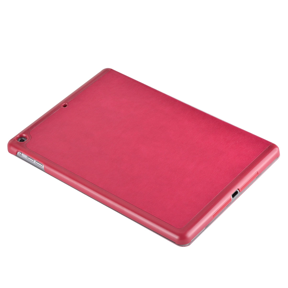 iPad Air Cover Features A Stylish Protective Genuine Leather Casing And A Quad Fold Stand (Magenta)
