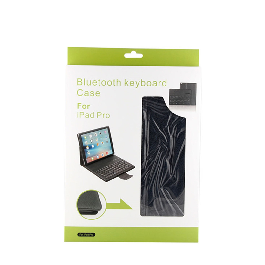 iPad Pro 12.9 Case With Keyboard (2015-17) With Leather Case & Detachable Keyboard (Black)