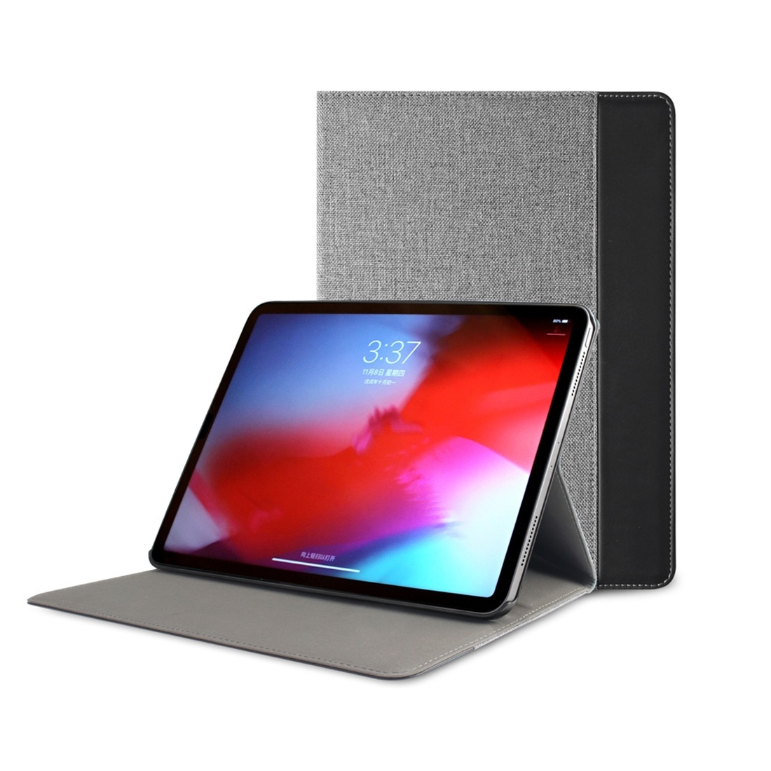 Canvas Leather iPad Pro 12.9 Case (2018), with Pen Holder