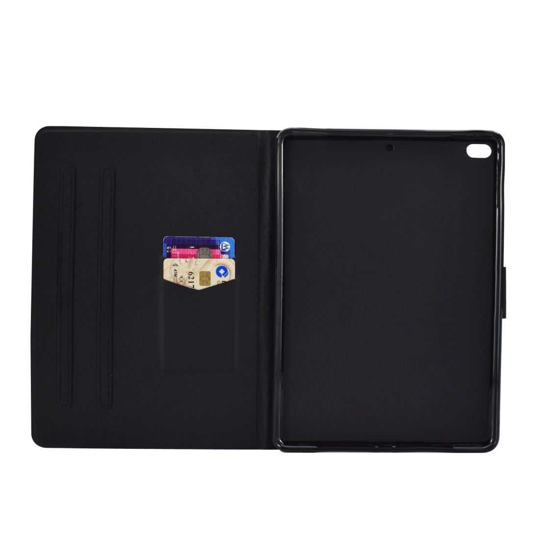 Colorful Protective iPad 9.7 Case (2018)/(2017), Air, Air2 W/ Sleeves, Auto Sleep (Butterfly)
