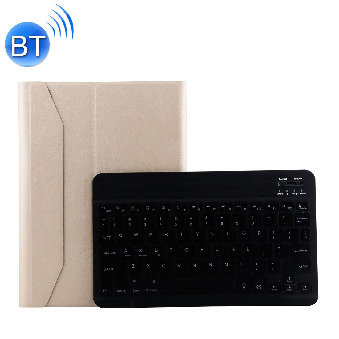 iPad Air 2 Case With Keyboard With Leather Case For iPad Air/Air 2/Pro 9.7 inch  (Gold)