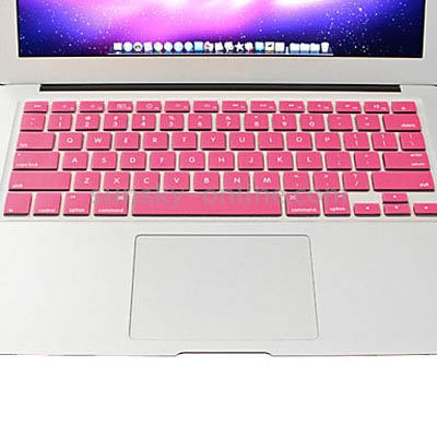 Macbook Pro Keyboard Cover For Pro 13.3 / 15.4 / 17.3 inch (US) / A1278/ A1286/ Soft Silicone (Pink)