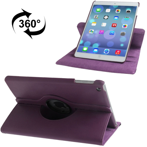 iPad Air 2 Smart Case, Also Fits iPad Air, iPad 9.7 (2017) & (2018) Leather With Auto Sleep (Purple)