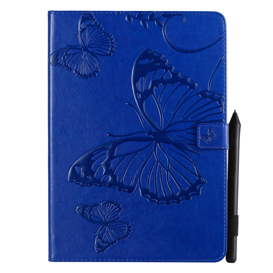 iPad 7th Generation Case (10.2 Inch) Also Fits /Pro 10.5/Air 2019 Leather Butterfly Design (Blue)