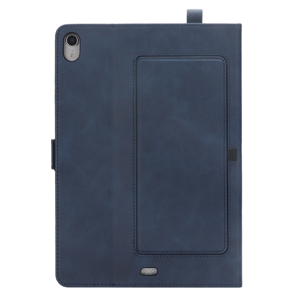 Bi-Stand Leather iPad Pro 11 Case (2018), w/Sleeves & Frame (Blue)