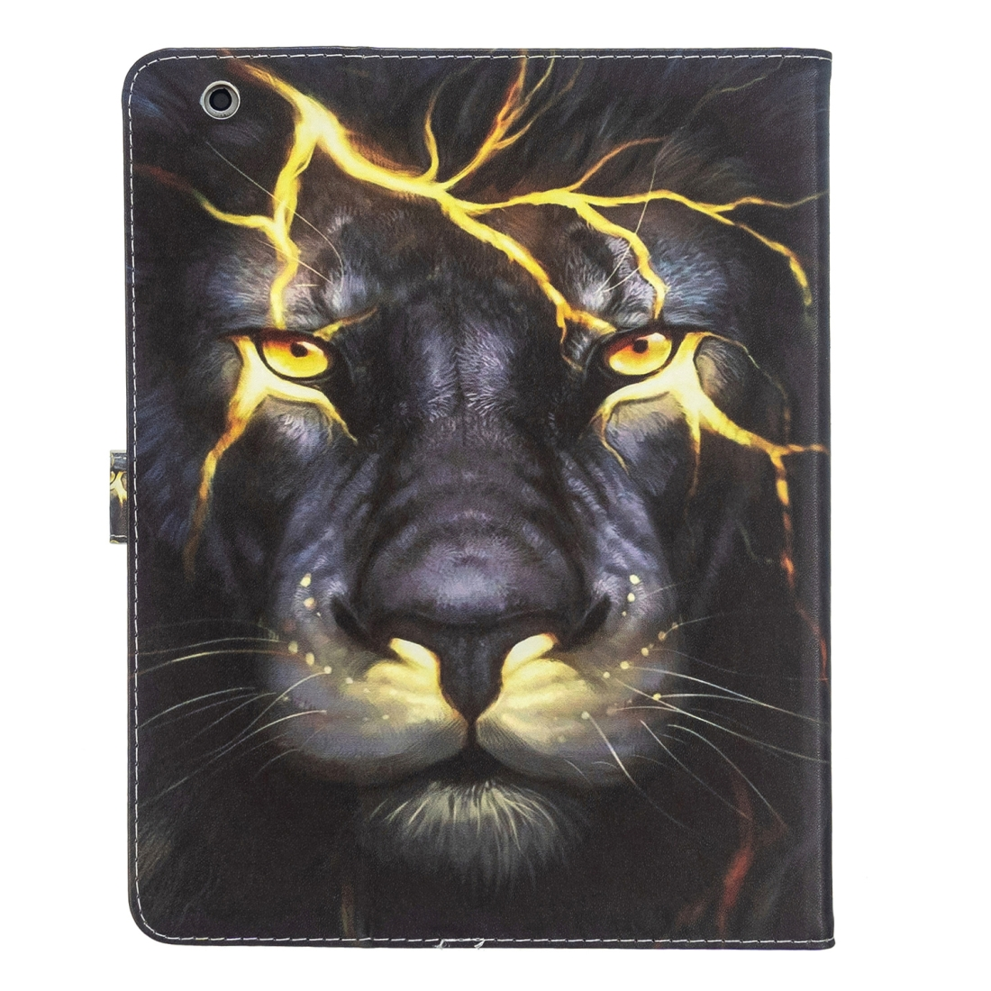 iPad 4th Generation Case Fits iPad 2,3,4, Leather With A Slim Profile (Lion)