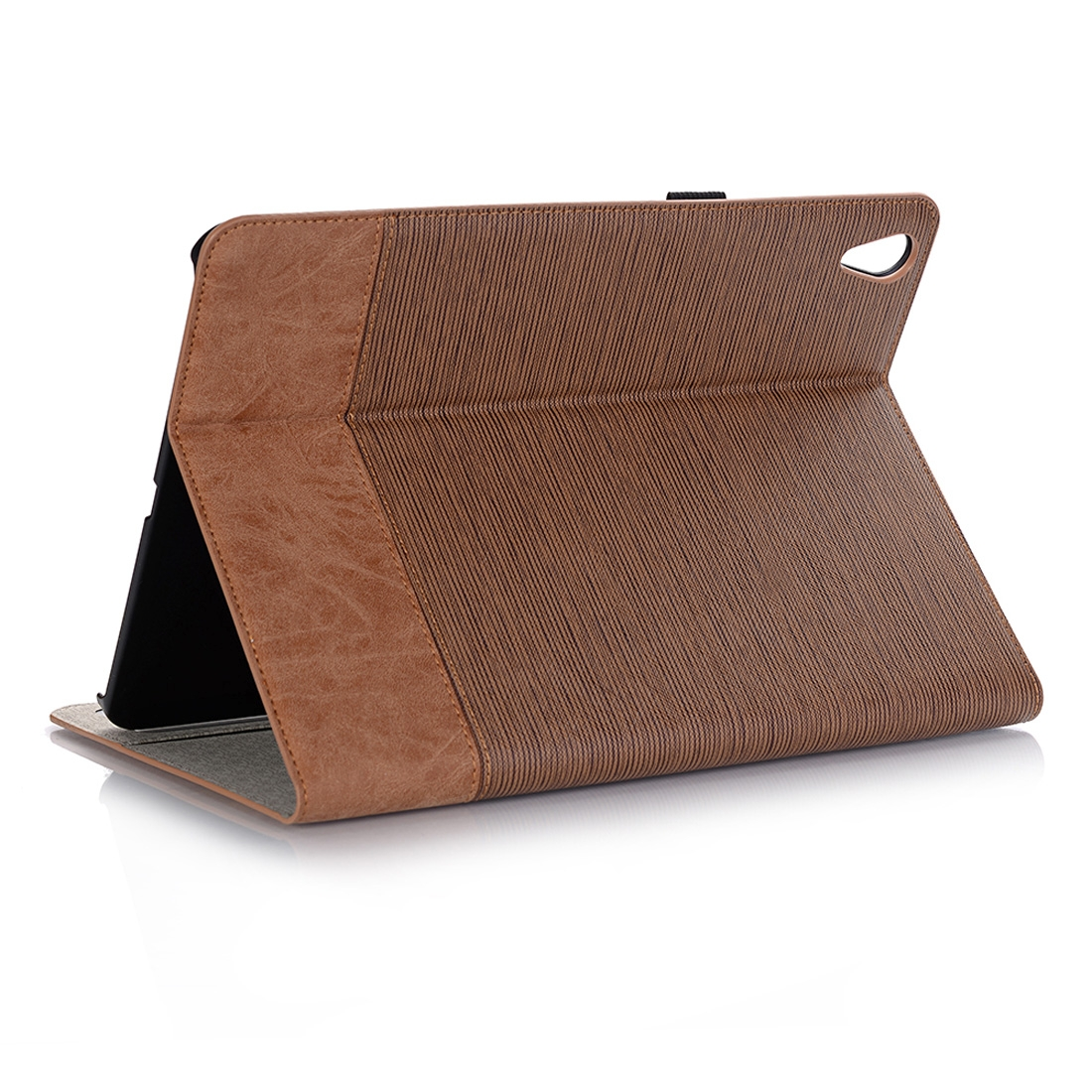 Cross Texture Leather iPad Pro 11 Case (2018) Slim Profile (Brown)