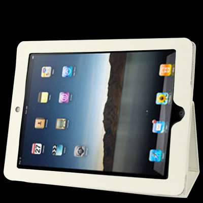 iPad 2 Case Featuring Premium Quality Leather With A Slim Profile (White)