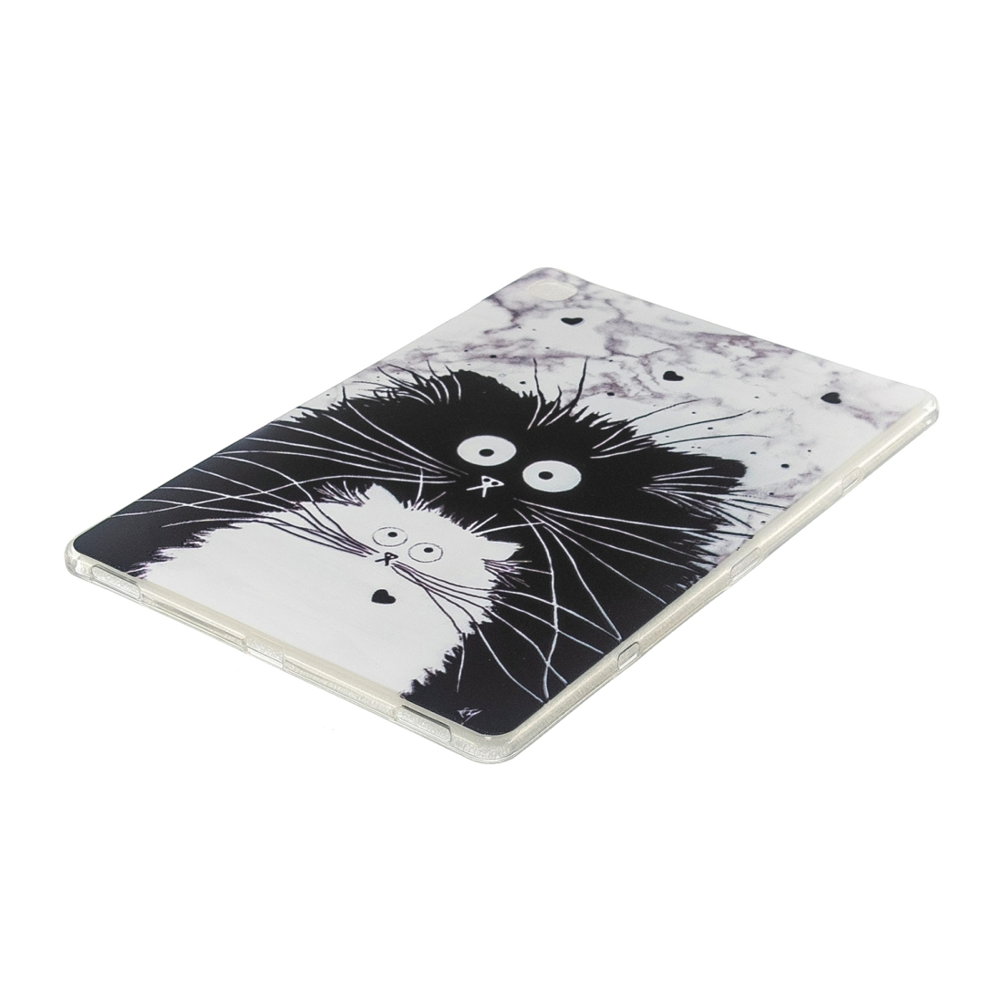 For Galaxy Tab S5e T720 Artistic Pattern Durable Case (Black White Cat)