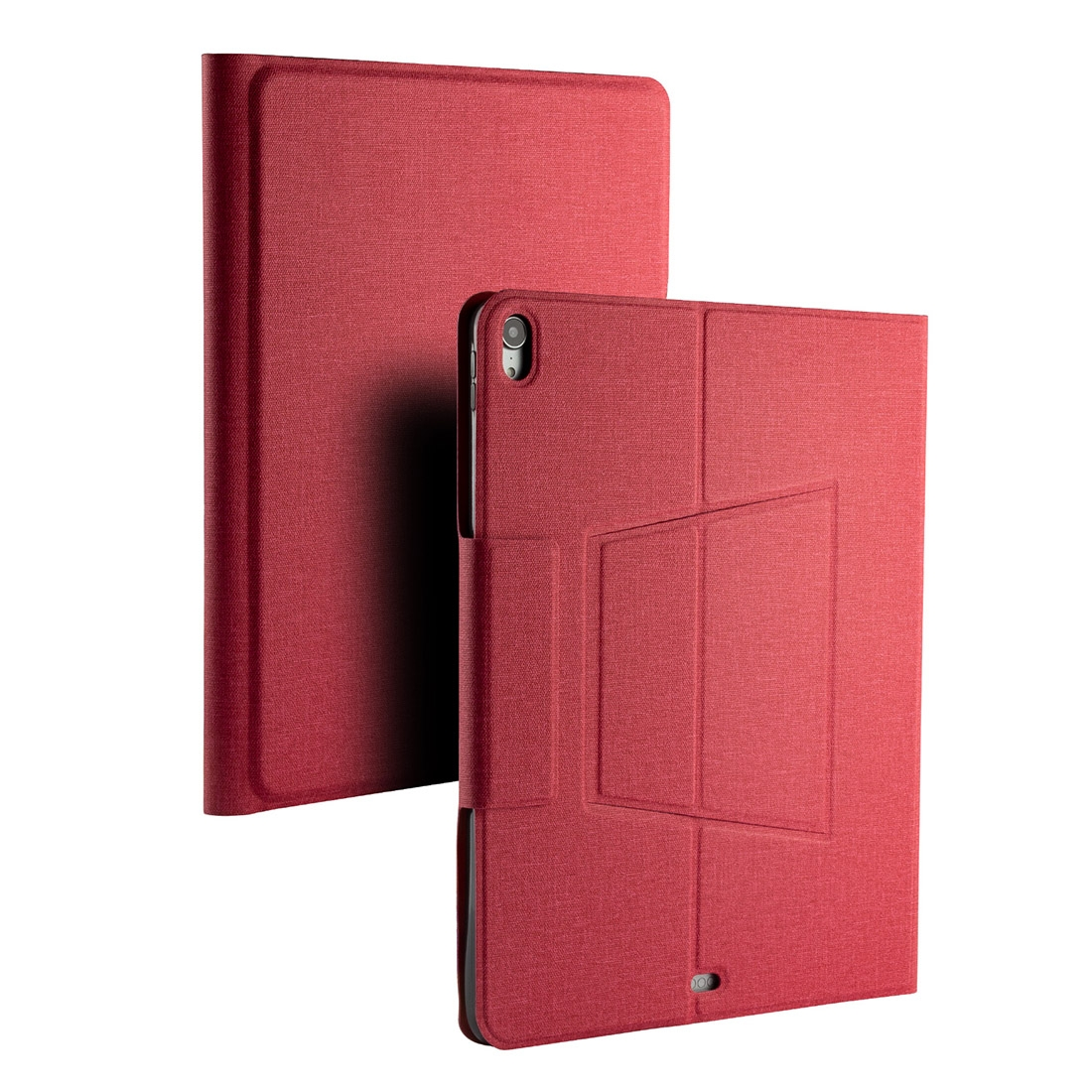 iPad Pro 12.9 Case With Keyboard & Backlite With Leather Flip Case for iPad Pro 12.9 (2018) (Red)
