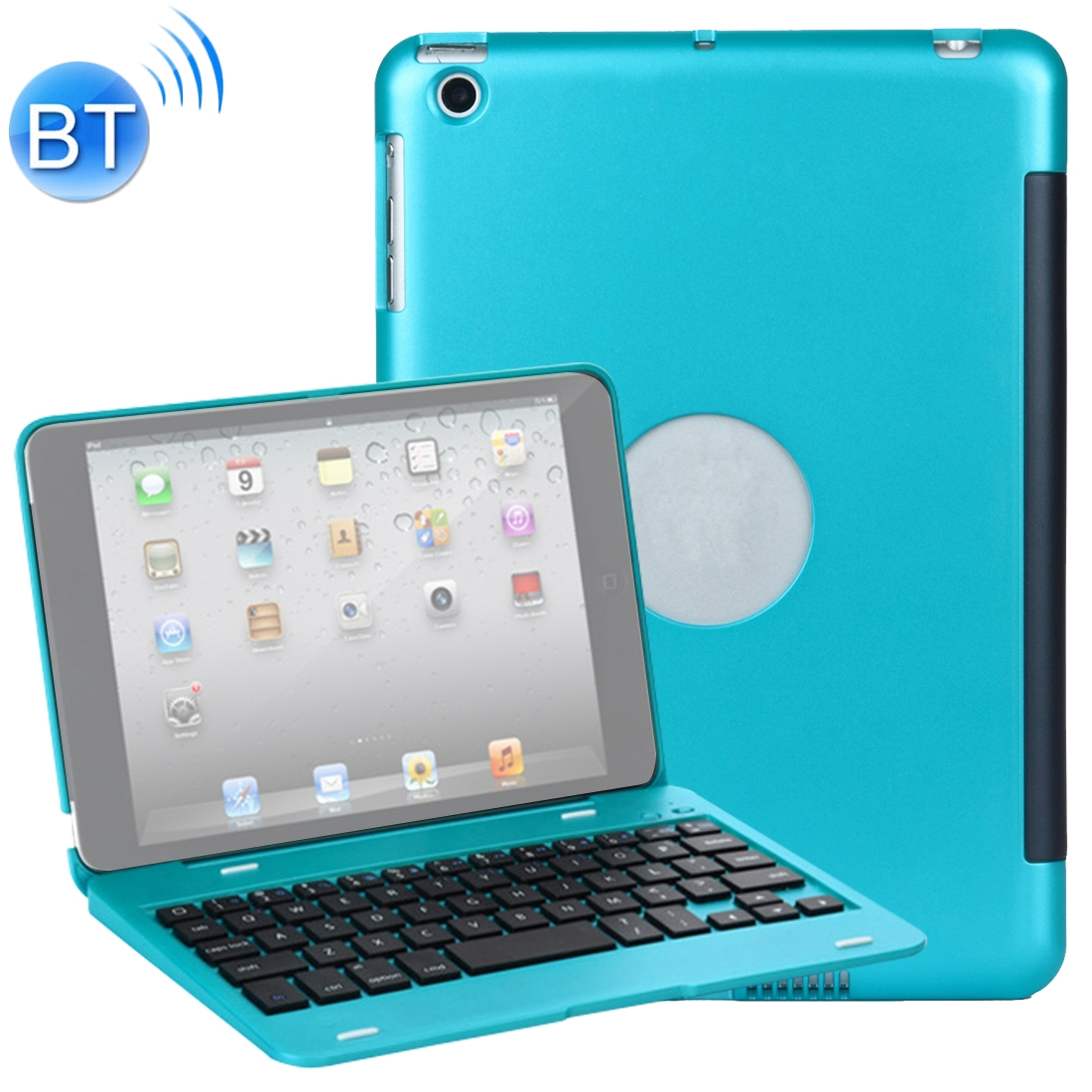 iPad Mini Case With Keyboard For iPad Mini 1,2 & 3, Protective Case With Bluetooth Keyboard (Blue)