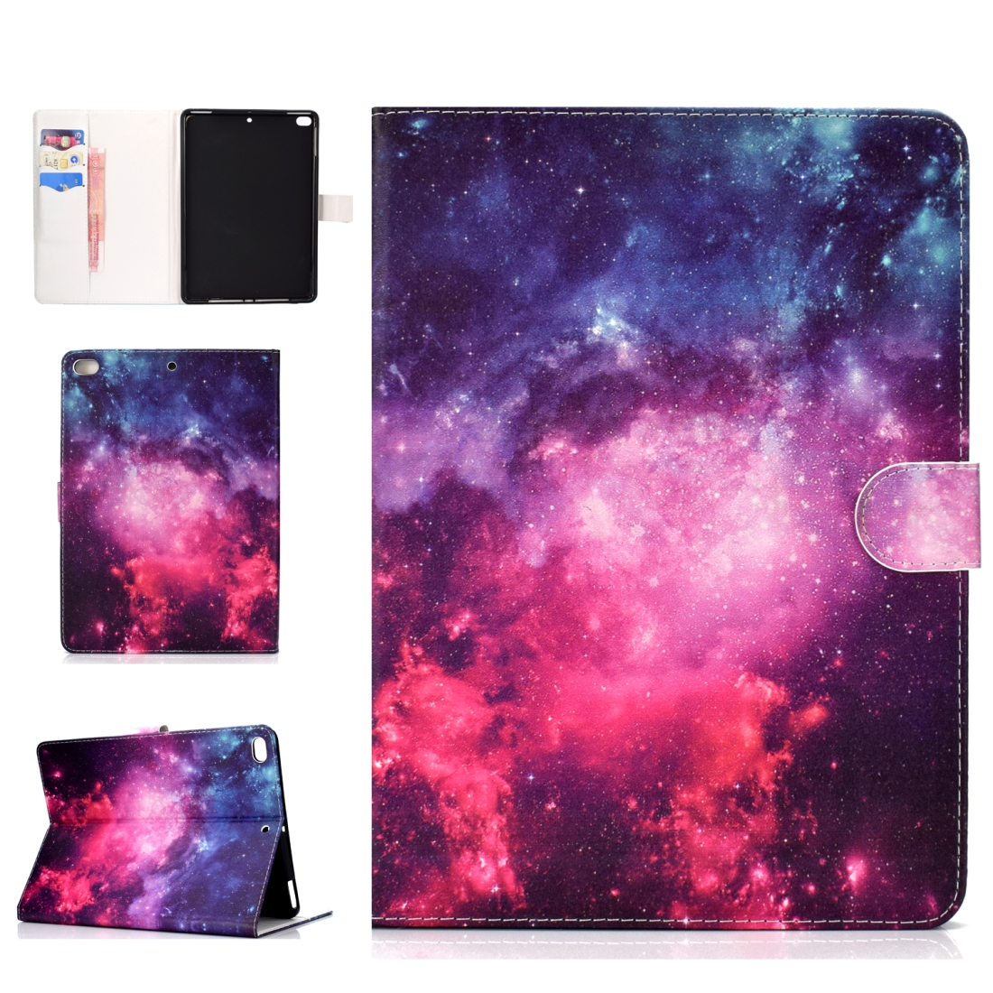 iPad 5th Generation Case Fits iPad 5,6,8, Stylish Leather Design & Auto Sleep Function (Starry sky)