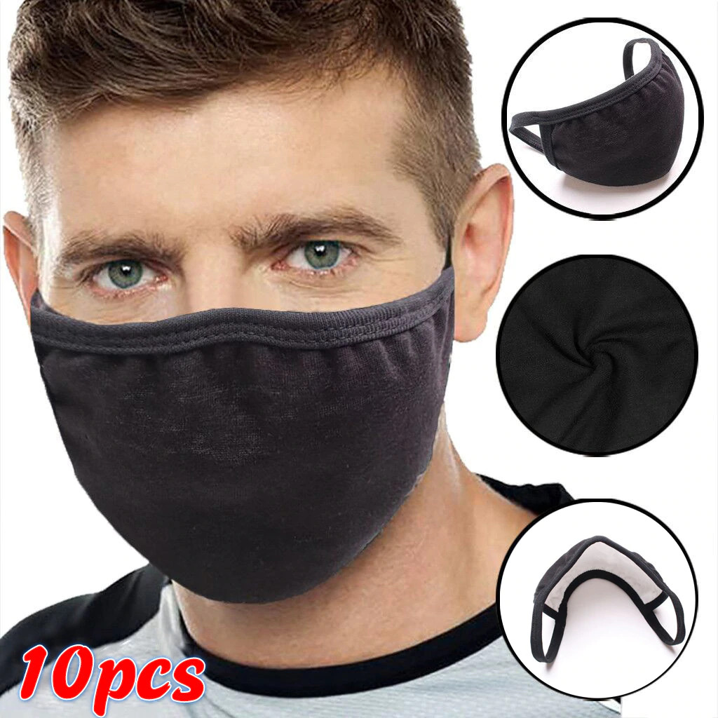 Cloth Face Mask, Washable, Reusable With Great Breathability - Black