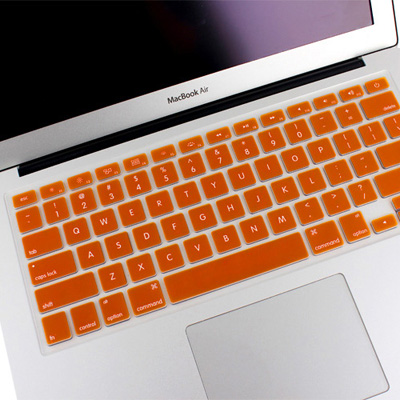 Macbook Pro Keyboard Cover For Air 13.3/Pro 13.3/15.4/A1398/A1425/A1369/A1466/A1502/Silicon (Orange)