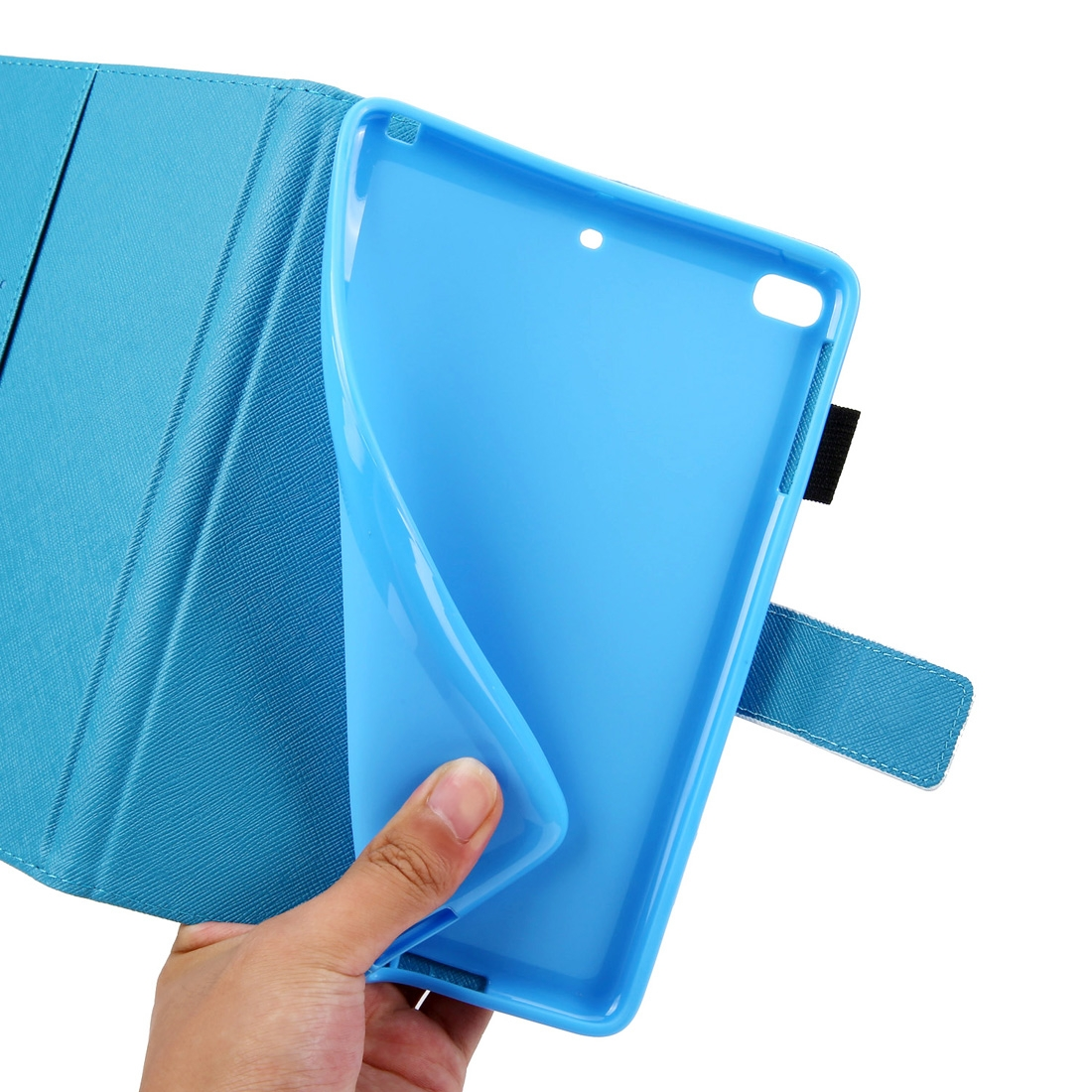Blue Butterfly iPad 9.7 Case (2017) (2018), Pro 9.7 (2016), Air/ Air 2, Slim Profile, Pen Holders